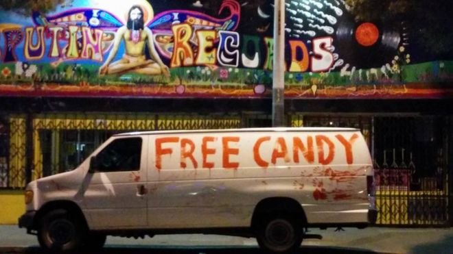 how a creepy white van became internet famous bbc news