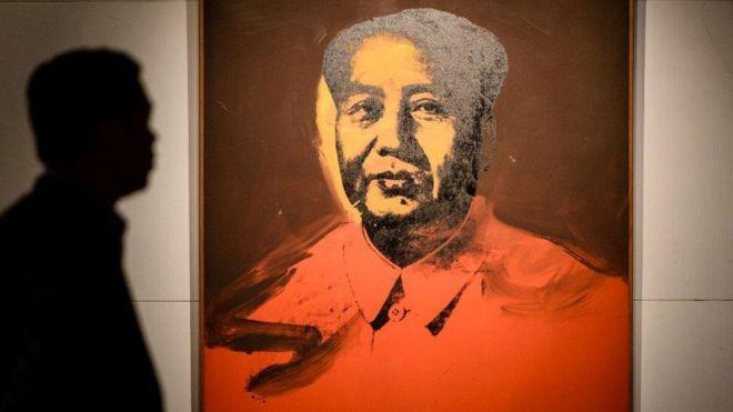 Bức Mao màu đỏ của Andy Warhol vừa được bán tại Hong Kong với giá trê 12 triệu USD