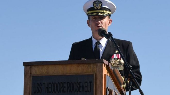 Capt Brett Crozier wrote a scathing letter, calling for urgent action