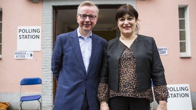 Майкл Гоув и Сара Вайн