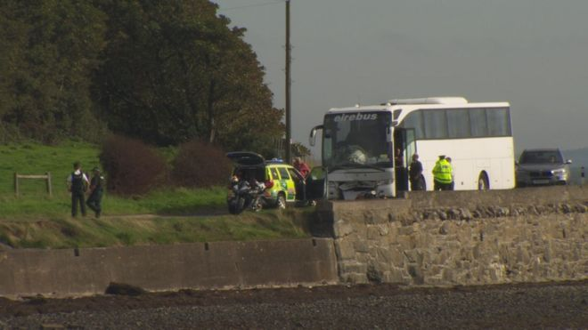newtownards man dies after coach and motorcycle crash bbc news