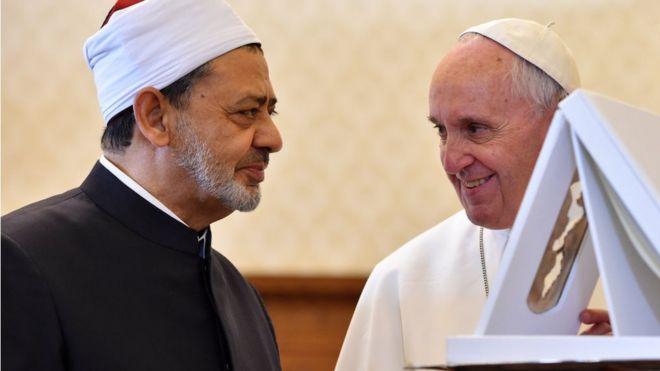 البابا فرانسيس وشيخ الأزهر