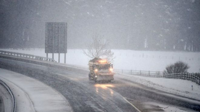 Snow on the M74