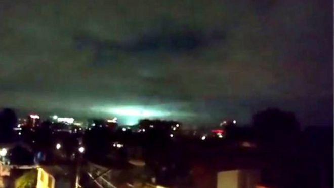 Luces durante el terremoto de México
