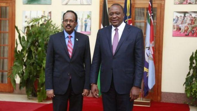 Madaxweyne Farmaajo iyo Uhuru Kenyatta