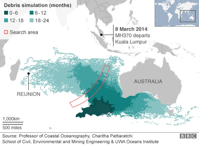 Missing Malaysia Plane MH What We Know BBC News - Earth map show airplane travell from us to austrialia