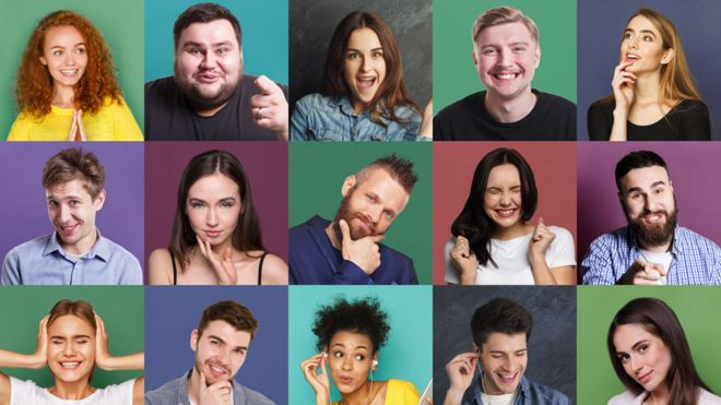 Fotos de distintas caras