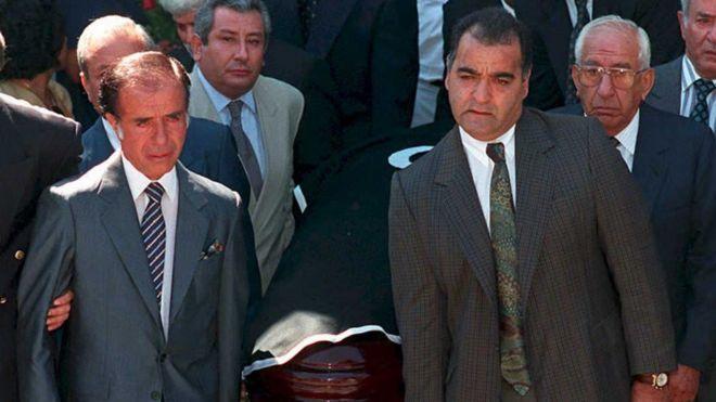 Entierro de Carlos Menem jr