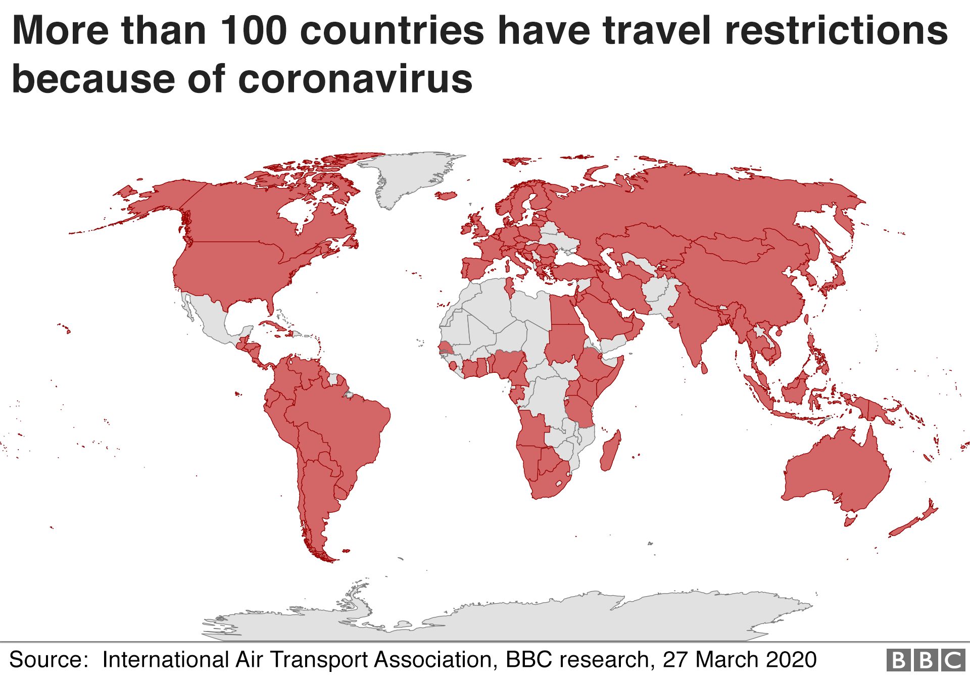 Travel bans around the world
