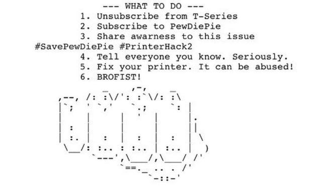 PewDiePie: los seguidores del exitoso youtuber que están hackeando impresoras en todo el mundo
