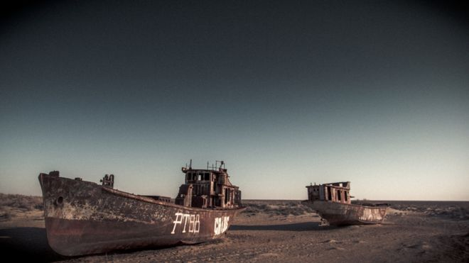 Graveyard of ships, Moynaq, Uzbekistan by Paul Ivan Harris