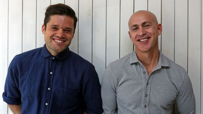 Richard Pierson (left) and Andy Puddicombe