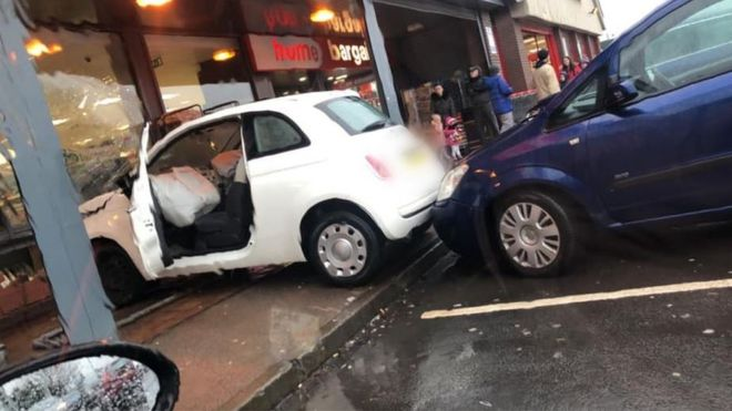 Car Smashes Into Home Bargains Store In Bathgate Bbc News