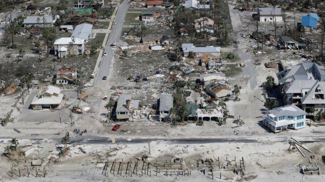 Imagen Aerea De La Devastacion Del Huracan Michael En Mexico Beach