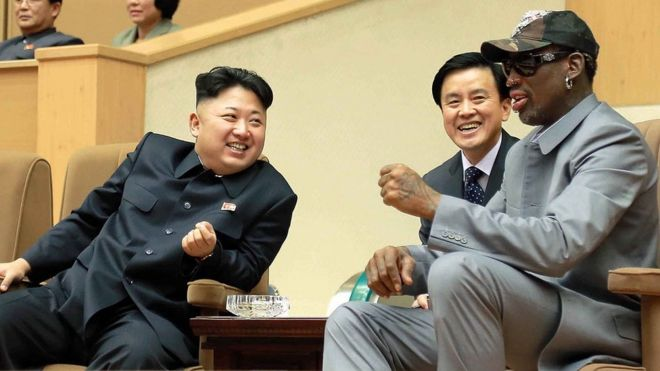 Kim Jong-un and Dennis Rodman