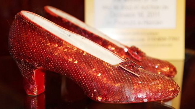 51d8fb3de41 Judy Garland's stolen ruby slippers found after 13 years - BBC News