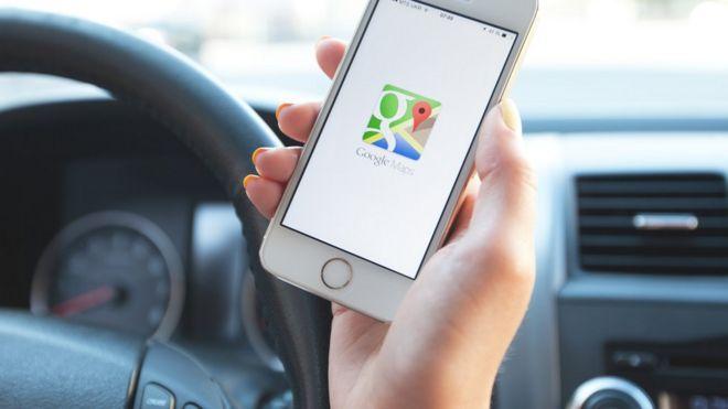 celular y google maps