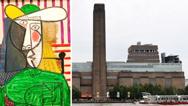 به اثری از پیکاسو در موزه تیت مدرن لندن حمله شد
