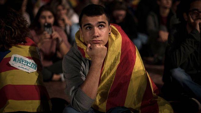 Joven en Barcelona.