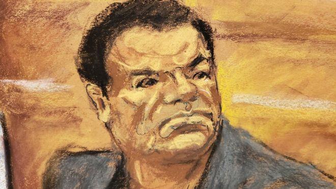 """""""El Chapo"""" Guzmán durante el juicio"""