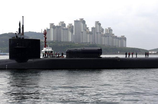 美国核潜艇在朝鲜建军85周年抵达韩国