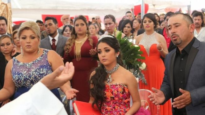 Rubi ibarra garcia birthday man killed in horse race at viral party rubi ibarra garcia is accompanied by her parents to an open air mass stopboris Gallery