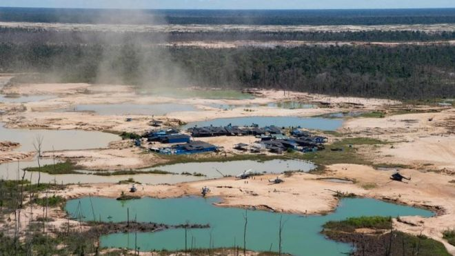 Mineração na Amazônia no Peru