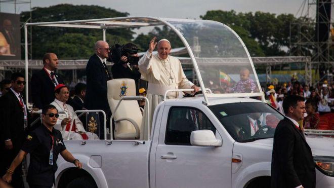羅馬教宗方濟各訪問緬甸