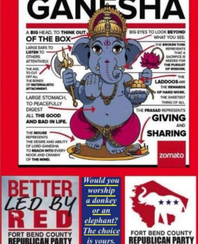 Texas Republicans Apologise To Indians For Offensive Hindu Ad