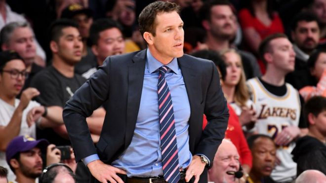 NBA coach Luke Walton
