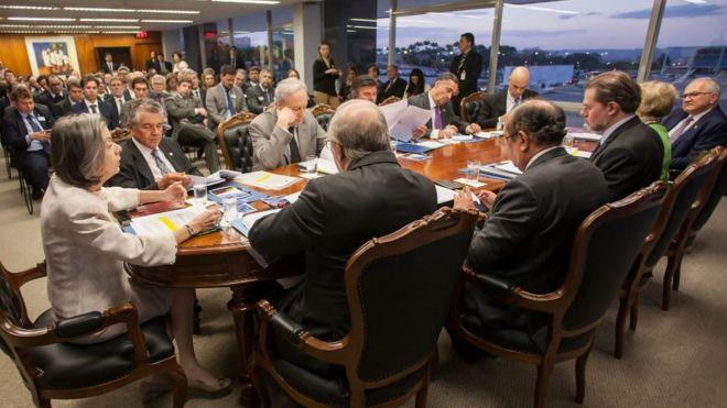 Ministros do STF em sessão administrativa