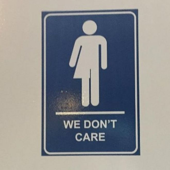 we dont care gender neutral bathroom sign - All Gender Bathroom Sign