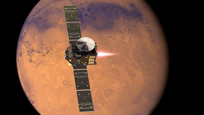 Межпланетная станция на орбите Марса