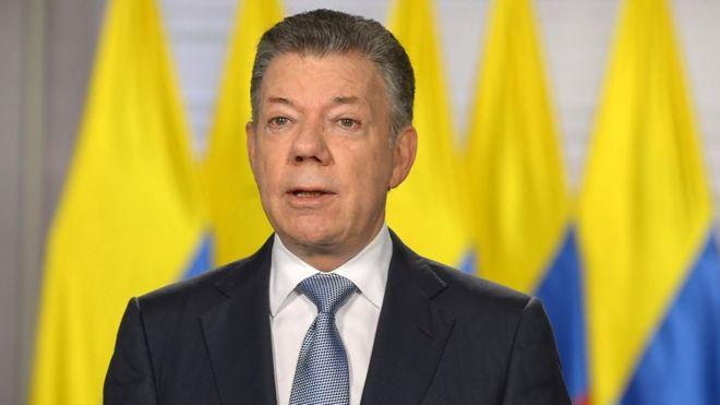 Juan Manuel Santos en su mensaje televisado