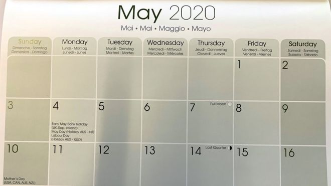U Of A 2020 Calendar One million calendars 'wrong due to bank holiday change'   BBC News