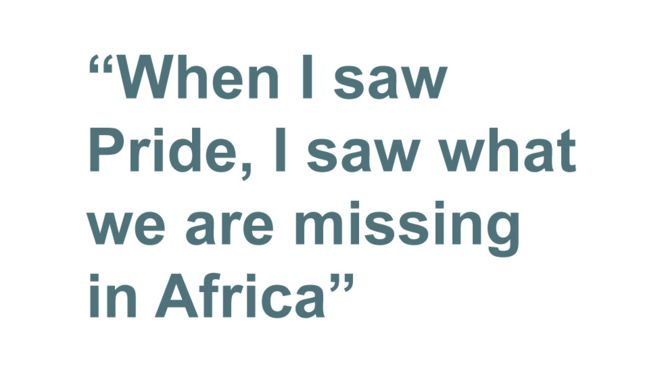 Quotebox: When I saw Pride, I saw what we are missing in Africa