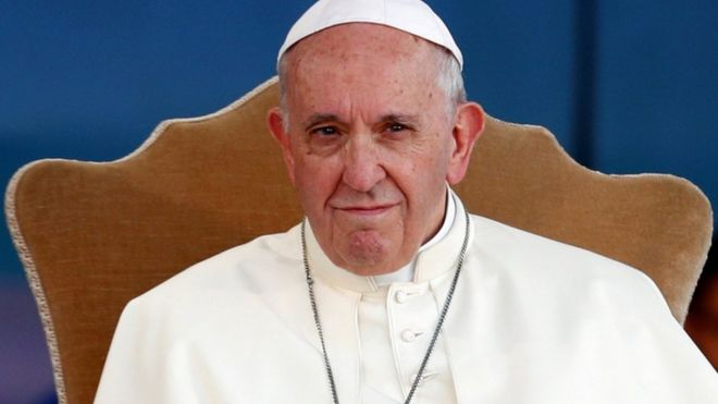 pope francis pictured in rome