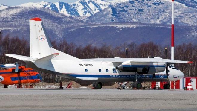 طائرة من طراز An-26 في مطار بتروبافلوفسك