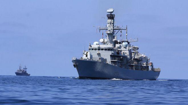ناوچه کنت برای ماموریت حفاظتی راهی خلیج فارس شده
