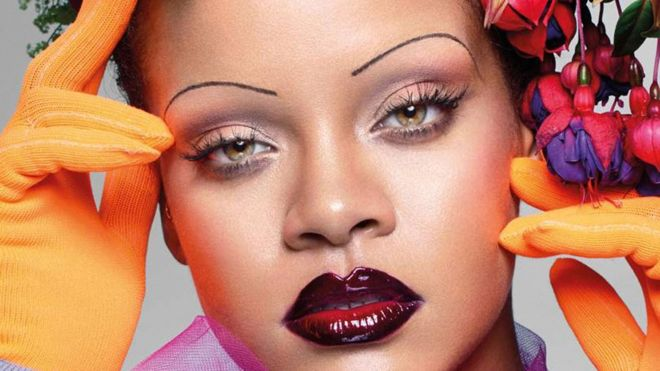 will rihanna s eyebrows become the vogue bbc news
