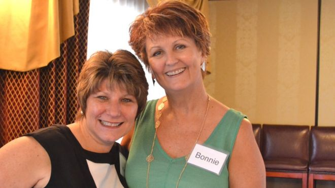 Kathy Murray (left) with her friend Bonnie