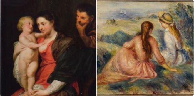 Film gibi bir soygunla çalınan Rubens ve Renoir tabloları bulundu