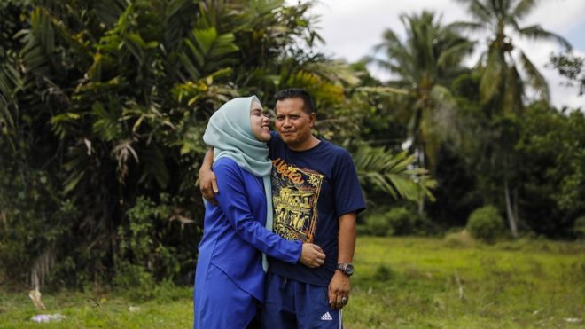 Siti and her father Azam