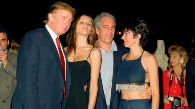 Image result for Images of Trump, Melania, and Epstein