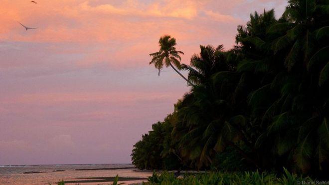 Bầu trời Chagos luôn rực rỡ sắc màu.