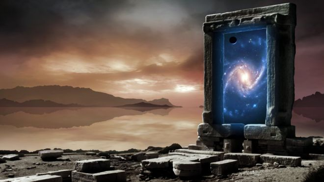Ilustração de um portal de outras dimensões