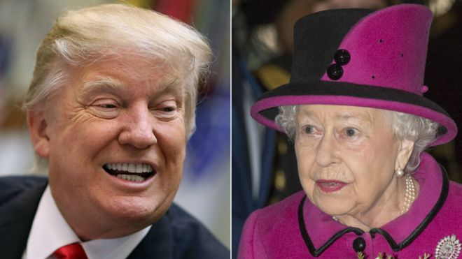 Image result for donald trump and the queen