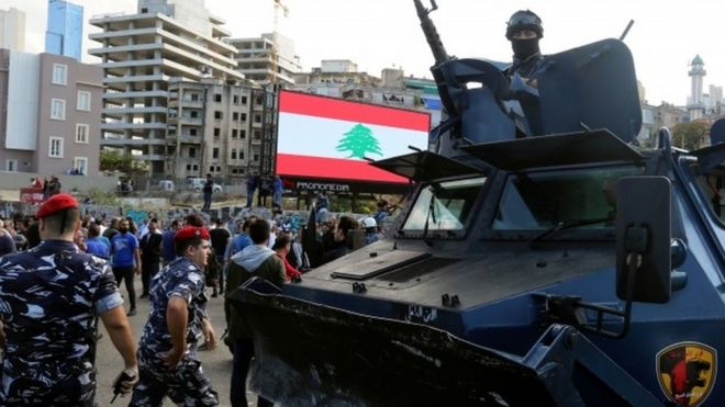 Security forces, Shia activists and anti-government protesters clashed on Tuesday in Beirut