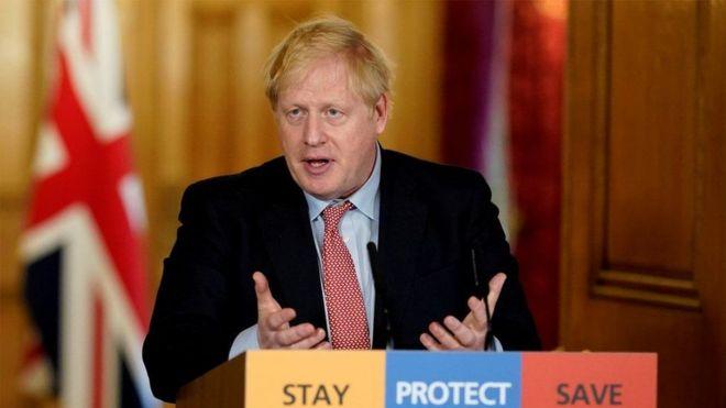 Boris Johnson, premier ministre britannique atteint du coronavirus, covid-19.