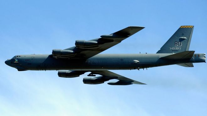 US B-52 bomber, file pic